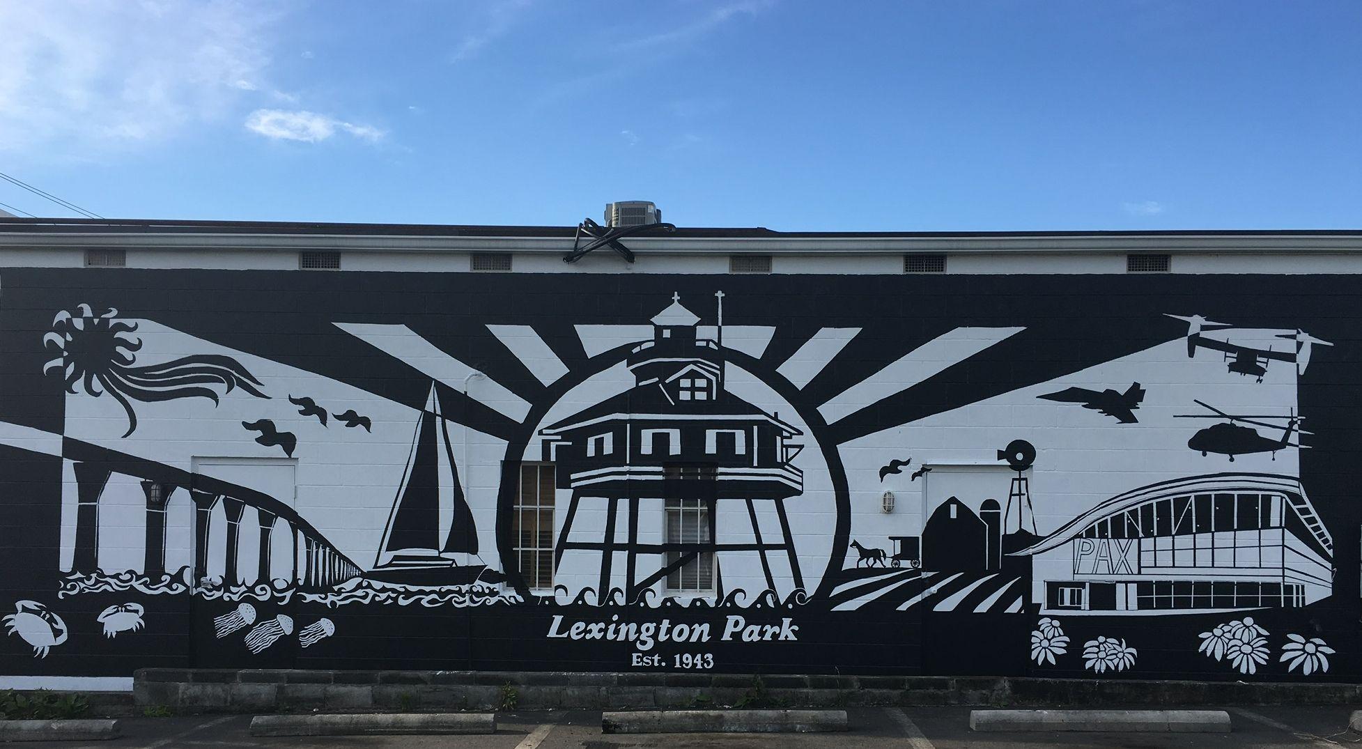 Tag Dyson Building Supply Lexington Park Mural